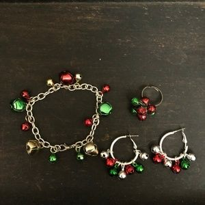 BELLS!!! Holiday Fashion Jewelry 4 pc Set